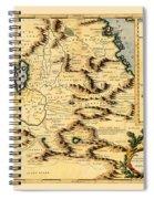 Map Of Africa 1690 Spiral Notebook