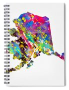 Map Of Alaska-colorful Spiral Notebook