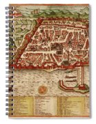 Map Of Algiers 1541 Spiral Notebook