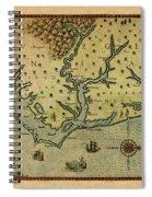 Map Of America 1590 Spiral Notebook