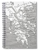 Map Of Ancient Greece Spiral Notebook