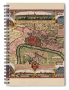 Map Of Antwerp 1675 Spiral Notebook