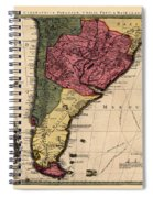Map Of Argentina 1700 Spiral Notebook
