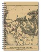 Map Of Arizona 1857 Spiral Notebook