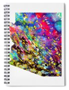 Map Of Arizona-colorful Spiral Notebook