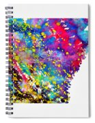 Map Of Arkansas-colorful Spiral Notebook