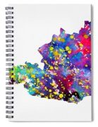 Map Of Austria-colorful Spiral Notebook