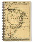 Map Of Brazil 1808 Spiral Notebook