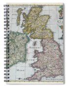 Map Of Britain Spiral Notebook