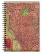 Map Of Buffalo 1896 Spiral Notebook