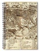 Map Of Cairo 1575 Spiral Notebook
