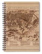Map Of Cairo 1600 Spiral Notebook
