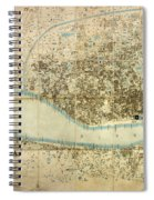 Map Of Calcutta 1857 Spiral Notebook