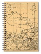 Map Of Canada 1762 Spiral Notebook