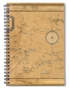 Map Of Cape Cod 1931 Spiral Notebook