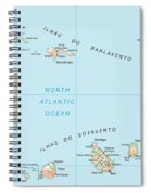 Map Of Cape Verde Spiral Notebook