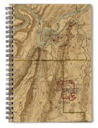 Map Of Chattanooga 1895 Spiral Notebook