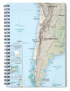 Map Of Chile 2  Spiral Notebook