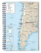Map Of Chile Spiral Notebook