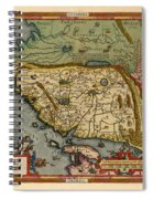 Map Of China 1590 Spiral Notebook