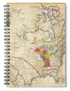 Map Of Colonial North America  Spiral Notebook