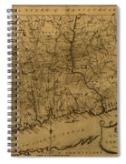 Map Of Connecticut 1797 Spiral Notebook