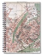 Map Of Copenhagen 1888 Spiral Notebook
