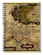 Map Of Cremona 1579 Spiral Notebook
