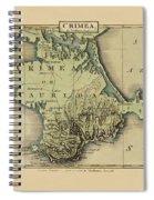Map Of Crimea 1815 Spiral Notebook