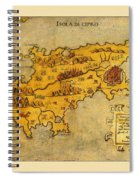 Map Of Cyprus 1562 Spiral Notebook