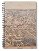 Map Of Dallas 1872 Spiral Notebook