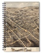 Map Of Danbury 1875 Spiral Notebook