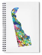 Map Of Delaware-colorful Spiral Notebook