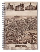 Map Of Dover 1885 Spiral Notebook
