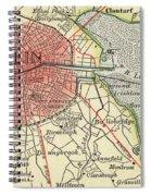 Map Of Dublin Spiral Notebook