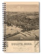 Map Of Duluth 1893 Spiral Notebook