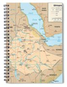 Map Of Ethiopia Spiral Notebook