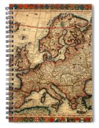 Map Of Europe 1700 Spiral Notebook