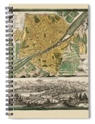 Map Of Florence 1731 Spiral Notebook