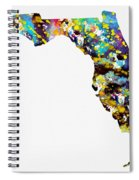 Map Of  Florida-colorful Spiral Notebook