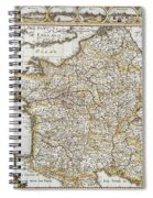 Map Of France, 1627 Spiral Notebook
