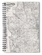 Map Of Franklin County Ohio 1883 Spiral Notebook