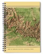Map Of Grand Canyon 1926 Spiral Notebook