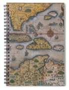 Map Of Gulf Of Mexico And C Spiral Notebook