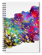 Map Of Hungary-colorful Spiral Notebook