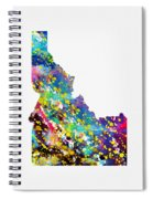Map Of Idaho-colorful Spiral Notebook