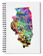 Map Of Illinois-colorful Spiral Notebook