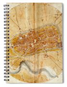 Map Of Imola 1502 Spiral Notebook