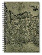 Map Of Ireland 1771 Spiral Notebook