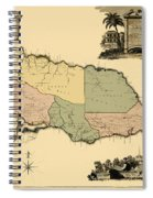 Map Of Jamaica 1763 Spiral Notebook